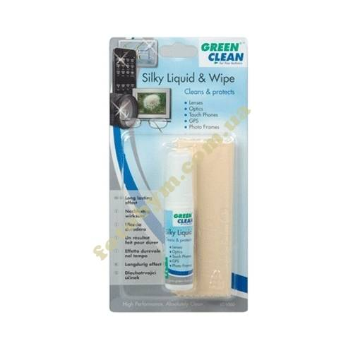 Набор Green Clean Silky Liquid&Silky Wipe LC-1000 для чистки оптики