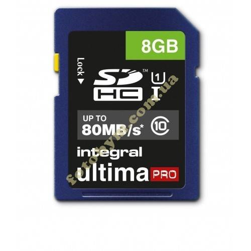 Карта памяти Integral ULTIMA PRO SDHC 8GB 80MB/S