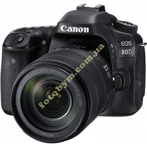 Фотоаппарат Canon EOS 80D + объектив 18-135 IS STM c Wi-Fi